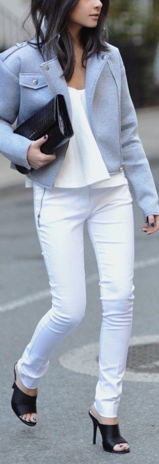 Grey Women's Aviator Jacket                                                                             Source