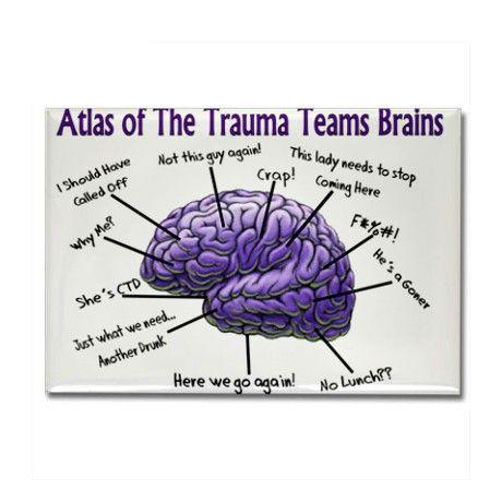 Trauma Nurse Rectangle Magnet by nurseii