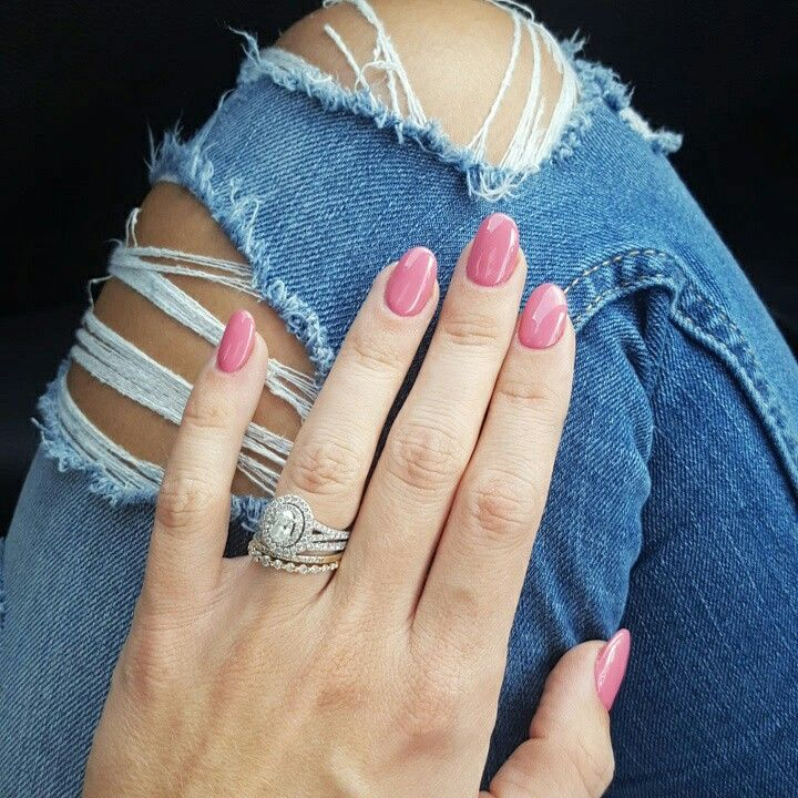Pink rounded nails!