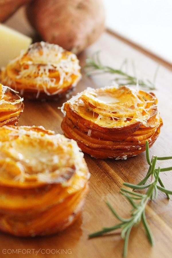 The Comfort of Cooking » Crispy Parmesan-Rosemary Sweet Potato Stacks