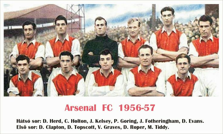 Arsenal team group in 1956-57.