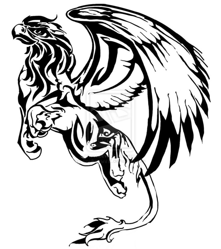 Gryphon Tattoo for Jonas by ~SoulhavenNZ