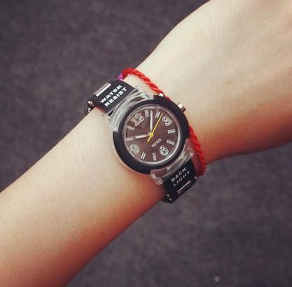 Cool LED Backlight Fashion Rubber Quartz Wristwatches Watch for Women Girls Men Boy Students Black White Clear