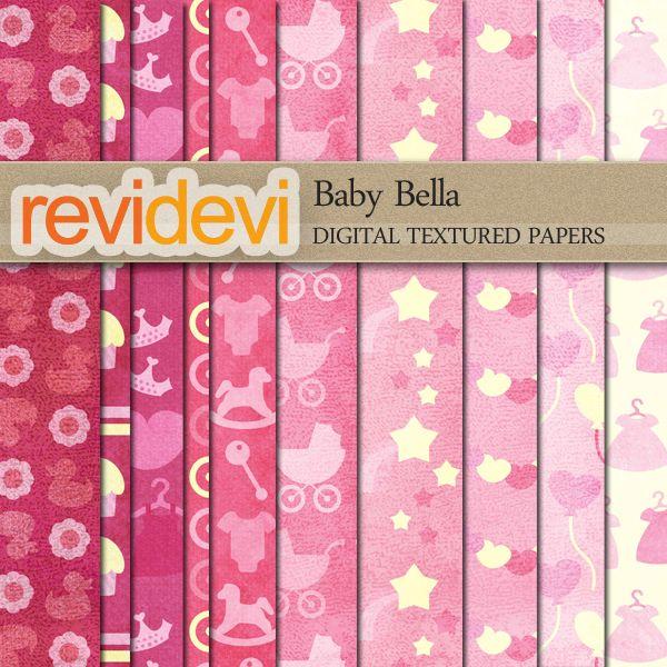 Baby Bella Textured Papers