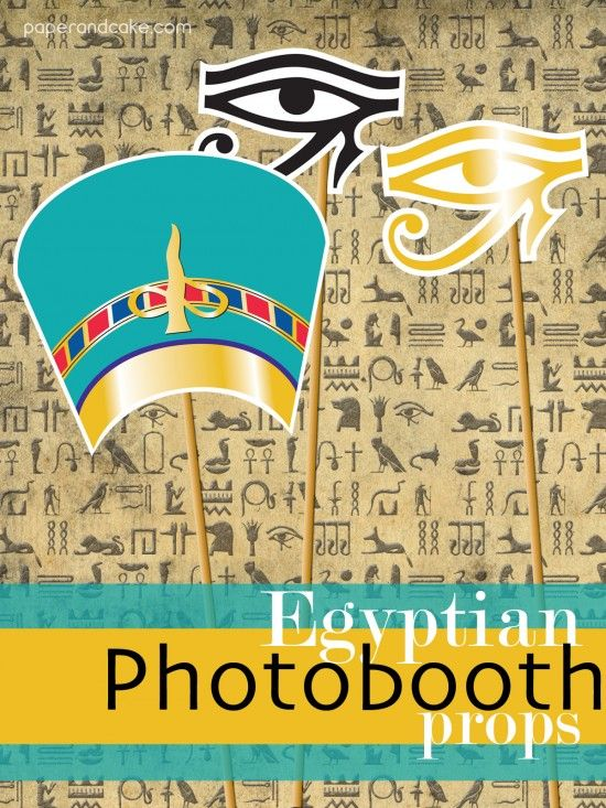 EGYPTIAN photo booth props halloween costume party theme printable by paper and cake