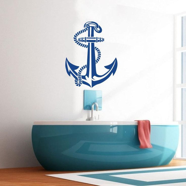 Anchor Wall Decal Art Decor Sticker Vinyl Nautical wall decal for Living room kids room