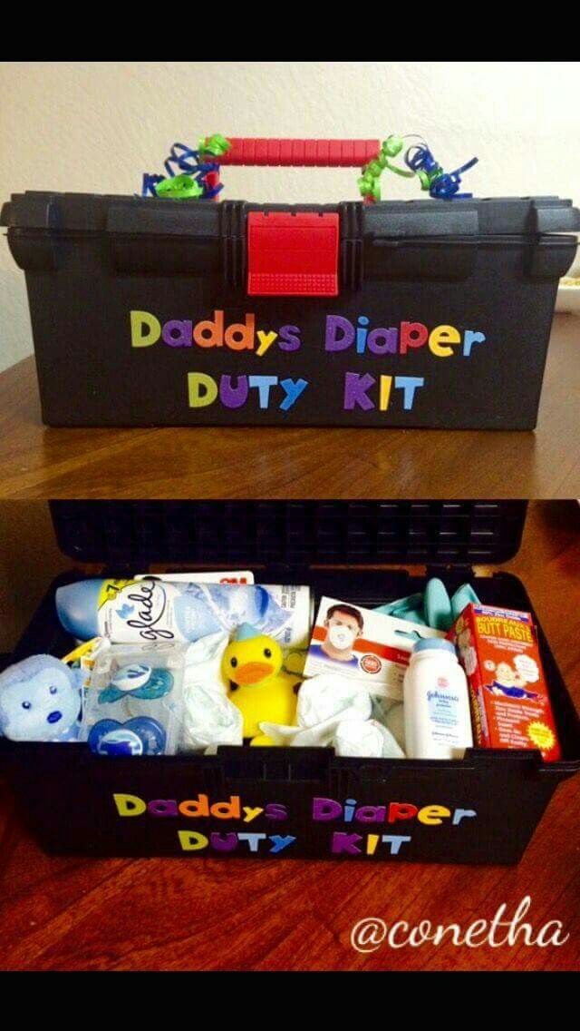 Daddys Diaper Duty Kit Baby shower gifts Baby shower