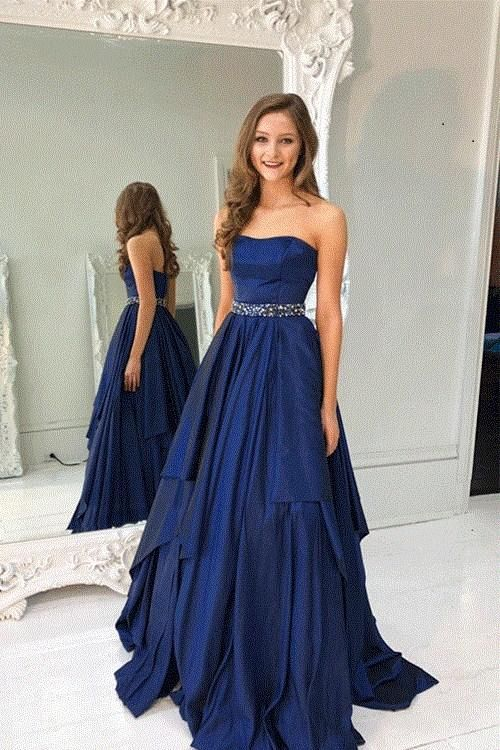 A Line Prom Dresses bf60d29fd7d4