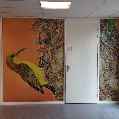 wanddecoratie met print op naadloos vinylbehang afgewerkt met duurzame epoxycoating