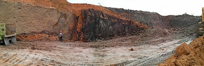 Trip to Indonesia:  Another pic of surface coal mining site @ Balikpapan