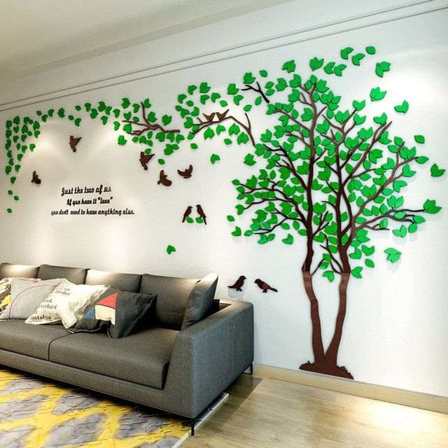 Animals Peacock On Branch Wall Stickers 3D Decals Poster Wallpaper Decor Rooms