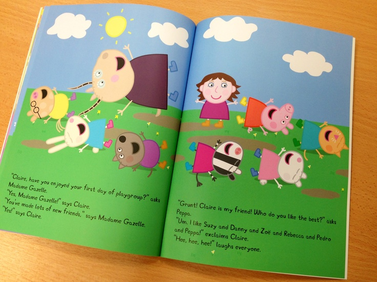 Personalised peppa pig book. Your child stars with peppa in their own customised story book. Delivered internationally to the US and Australia