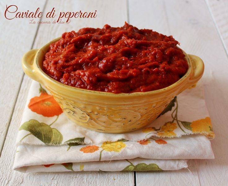 Il caviale di peperoni è una ricetta di origine balcanica(ajvar) per una salsa perfetta come condimento per primi o bruschette Ricetta caviale di peperoni