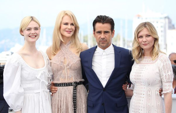 """Kirsten Dunst Photos Photos - (L-R) Actors Elle Fanning, Nicole Kidman, Colin Farrell and Kirsten Dunst attend """"The Beguiled"""" photocall during the 70th annual Cannes Film Festival at Palais des Festivals on May 24, 2017 in Cannes, France. - 'The Beguiled' Photocall - The 70th Annual Cannes Film Festival"""