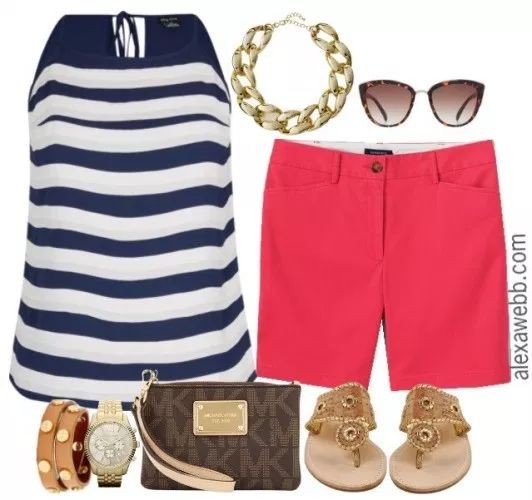 Plus Size Coral Shorts 1