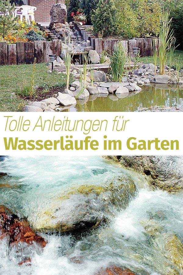 Wasserlauf selber bauen | Gartenteich, Springbrunnen etc ...