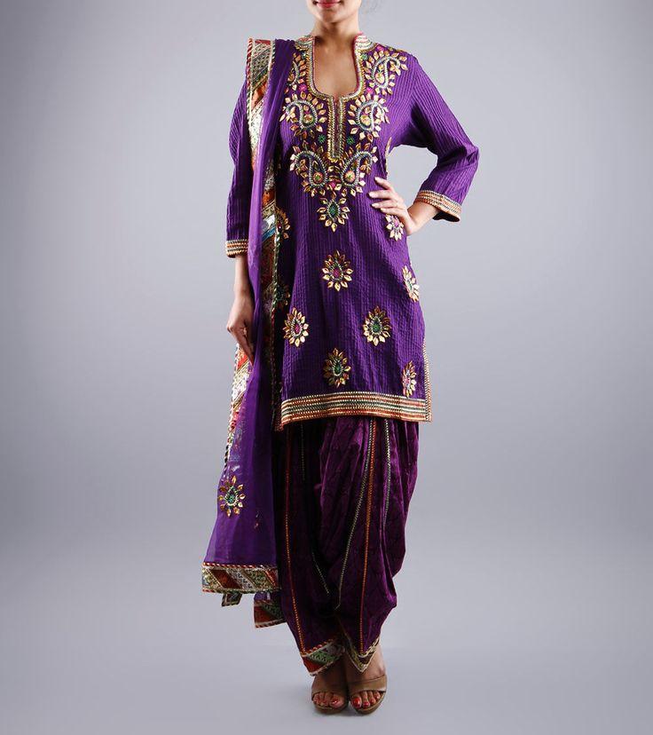 PurplePatiala Salwar Kameez