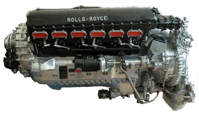 Supermarine Spitfire engine - Rolls Royce Merlin