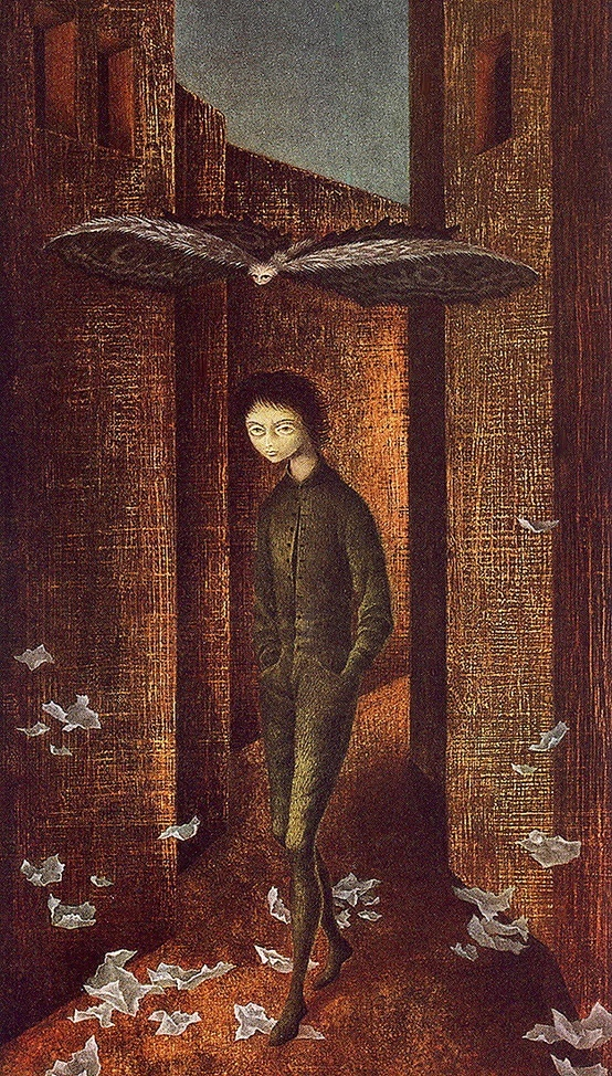Remedios Varo - Boy And Butterfly