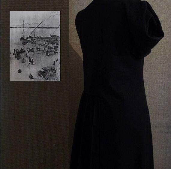 Dress for women Origami black.