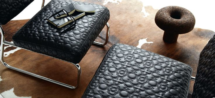 Volupté is a quilted Couture collection for seat covers with flamboyant colors. #elitis, #design, #fabric, #embroidery