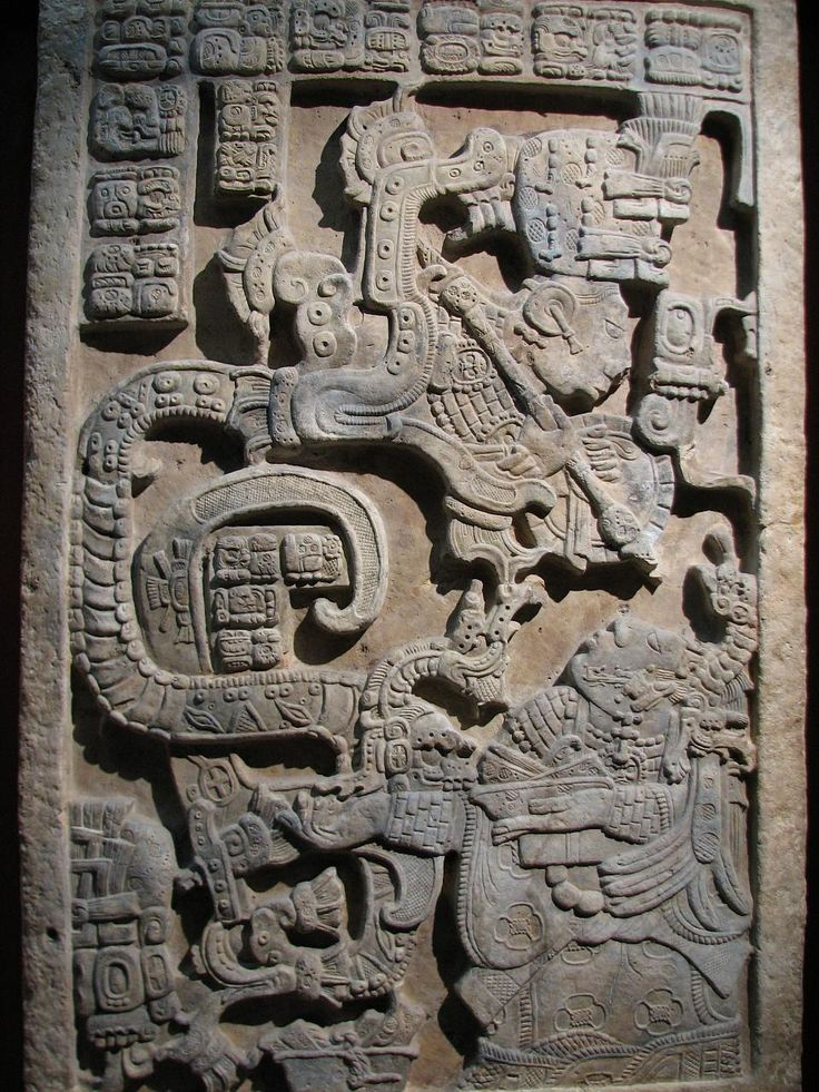 Gorgeous mayan relief sculpture in Yaxchilan, Mexico
