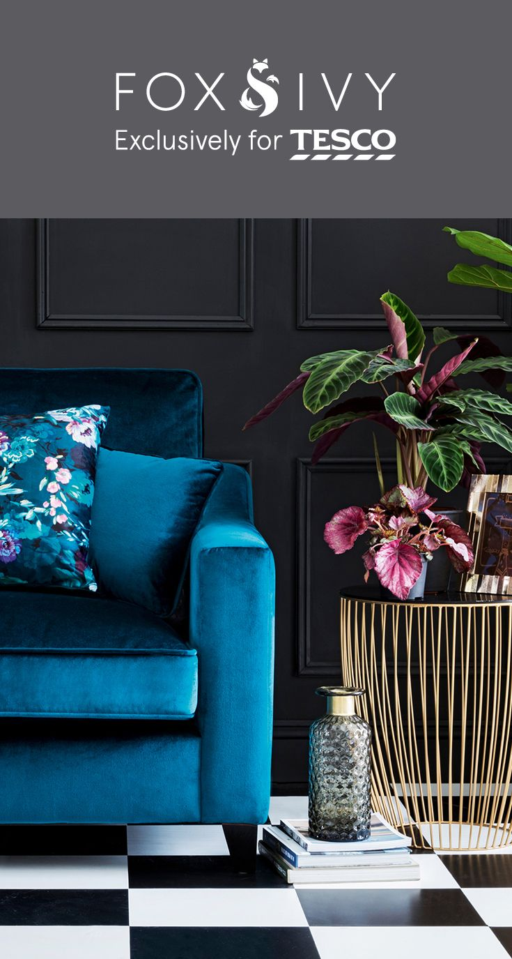 Explore the newly launched collection from Fox & Ivy exclusively for Tesco, our premium homeware brand. Featuring plush velvets, delicate gold accents and geometric prints, it's the perfect way to add a touch of luxury to your home. Click to see more