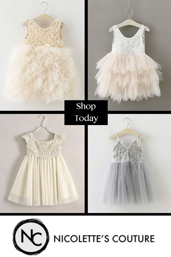 Stunning Couture Style Special Occasion Dresses. Your little princess will be the most fashionable girl at the wedding. Our chic styles are perfect for flower girls, weddings, photoshoots, princess parties, holiday, christenings and birthdays.