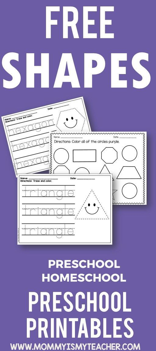Wow, I love these free shapes preschool homeschool printables! They are perfect … – Elementary Lesson Plan Ideas