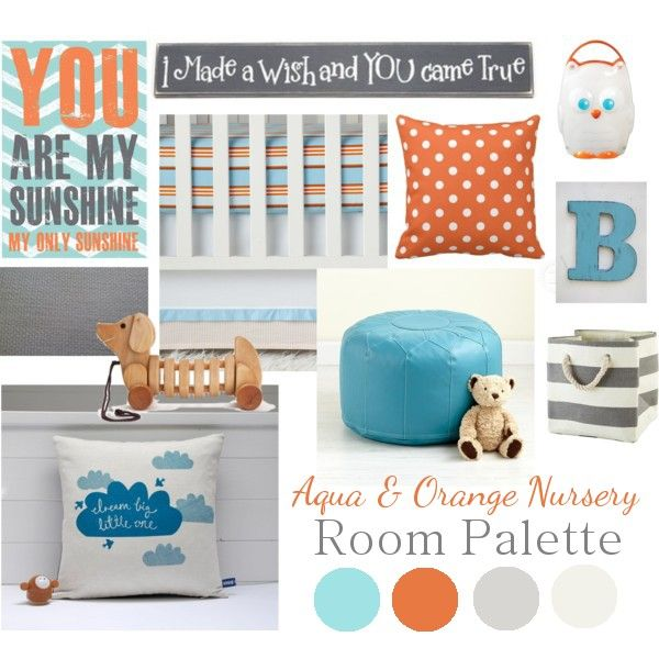 Delightfully Noted: Baby B's Aqua & Orange Nursery: Starting the Makeover