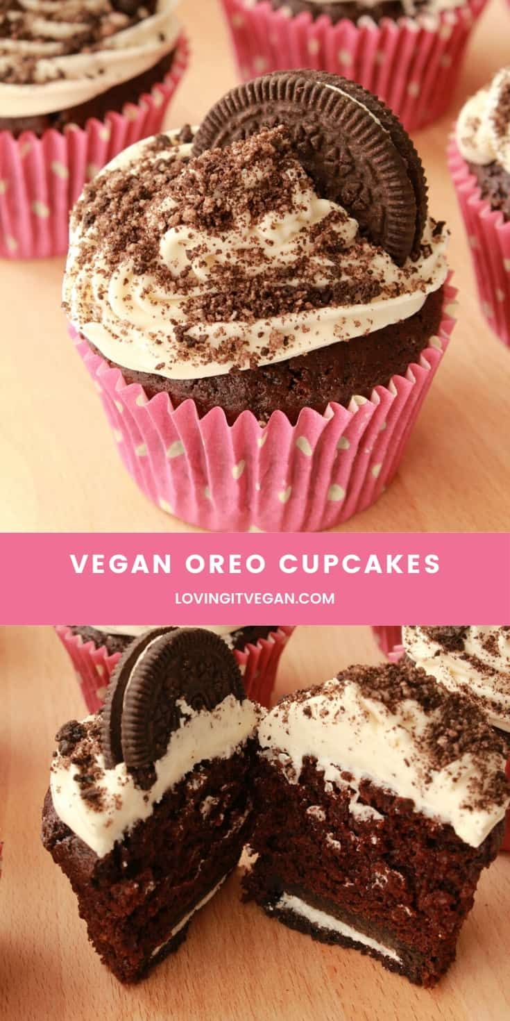 These Vegan Oreo Cupcakes Are Moist And Delicious With Wonderful Contrasts Of Texture Between A Crunch In 2020 Vegan Dessert Recipes Cupcake Recipes Vegan Cake Recipes