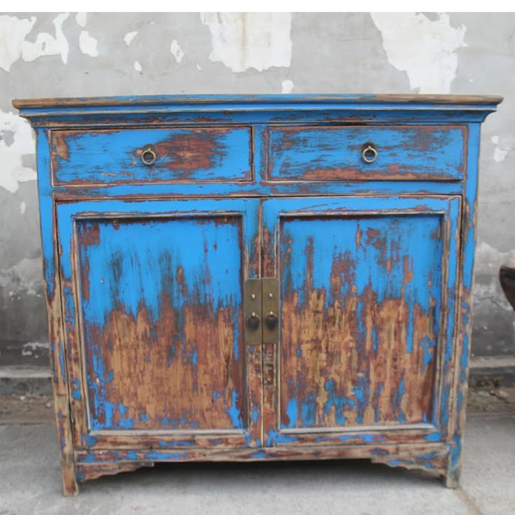 Vintage Blue Storage Cabinet. Blue Storage CabinetsAccent TablesConsole  Table
