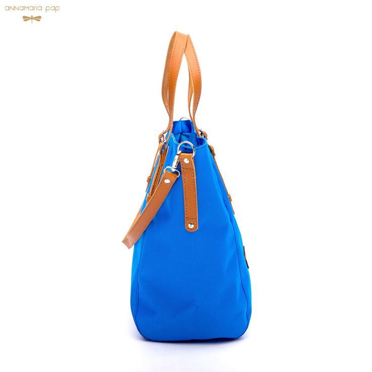 FAME Blue bag with leather accessories