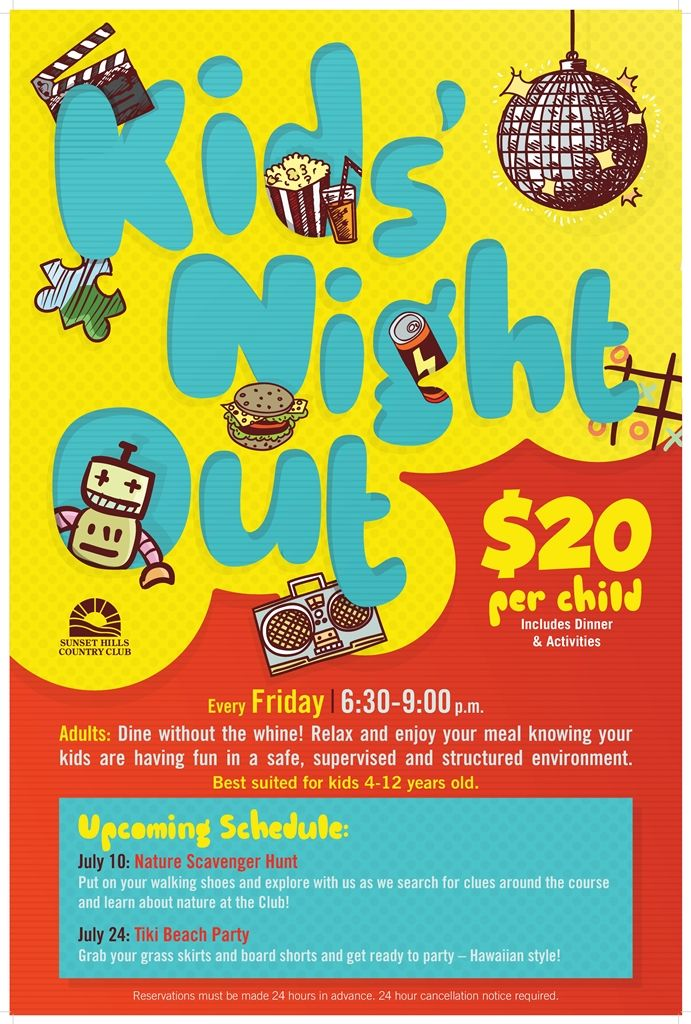 Kids Night Out Kids Night Out Kids Events Family Night