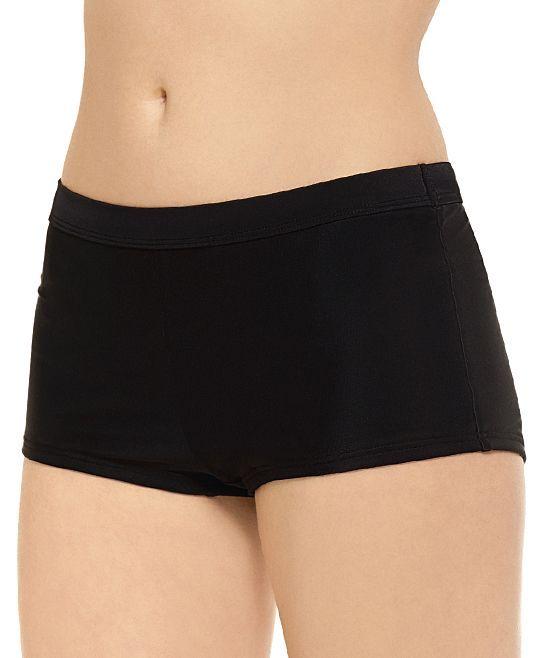 Black Boyshort Bikini Bottoms