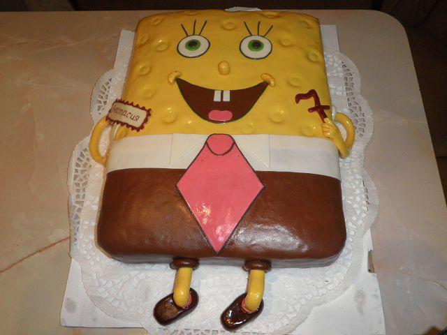 Губка Боб #торт_на_заказ_бровары #мульт_герои #бисквитный_торт #шоколадный_торт #комбинированный_торт