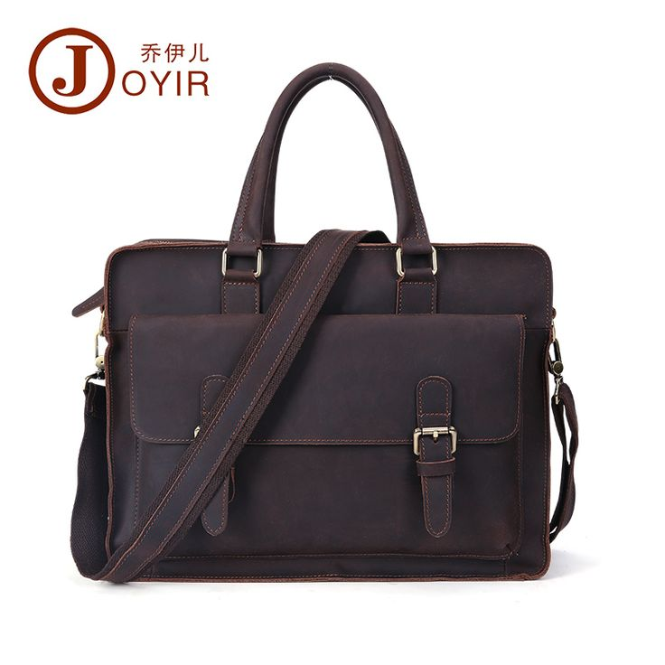 Hot Cow leather Vintage Dress Men's Briefcase genuine leather Handbag Male bag Shoulder bag for men Laptop bag Portfolio
