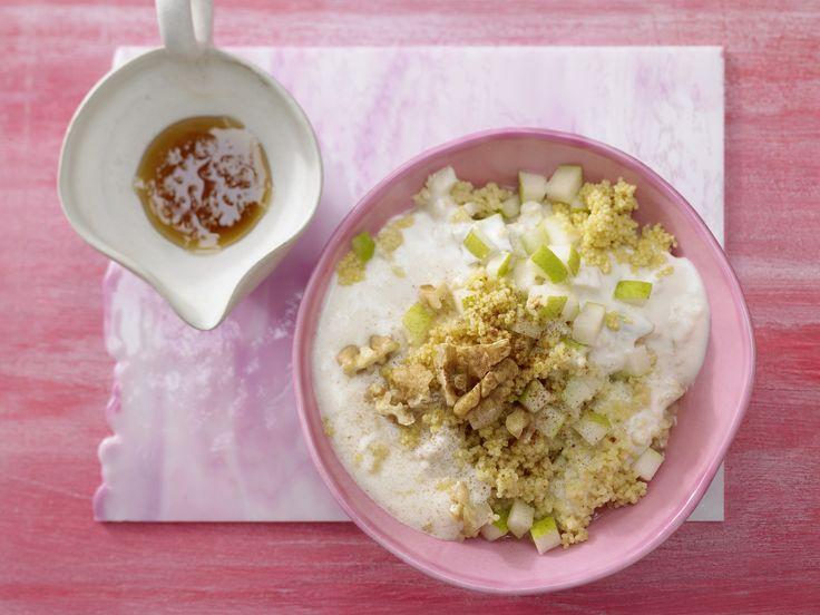 Hirse-Birnen-Müsli - mit Zimt und Walnüssen - smarter - Kalorien: 472 Kcal - Zeit: 15 Min. | eatsmarter.de Müsli mit Hirse, Birnen, Zimt und Walnüssen.