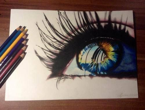 I love drawing of eyes... so realistic. #Amazing