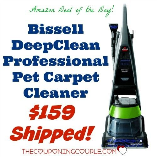 HOT BUY! Get the Bissell DeepClean Professional Pet Carpet Cleaner for only $159 shipped ($208 at Walmart!) Great if you have kids or pets to keep the carpet clean and fresh!! Today only!  Click the link below to get all of the details ► http://www.thecouponingcouple.com/bissell-deepclean-professional-pet-carpet-cleaner-159-shipped/  #Coupons #Couponing #CouponCommunity  Visit us at http://www.thecouponingcouple.com for more great posts!