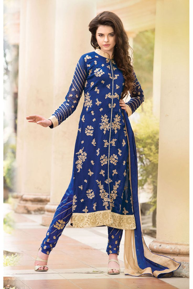 Blue Color Indian Salwar Suit From Hdbazaar