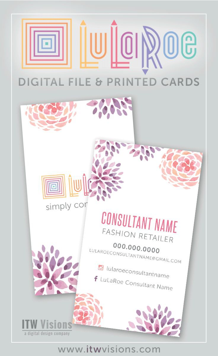LOVE these lularoe business cards with watercolor flowers. Many other designs to choose from too