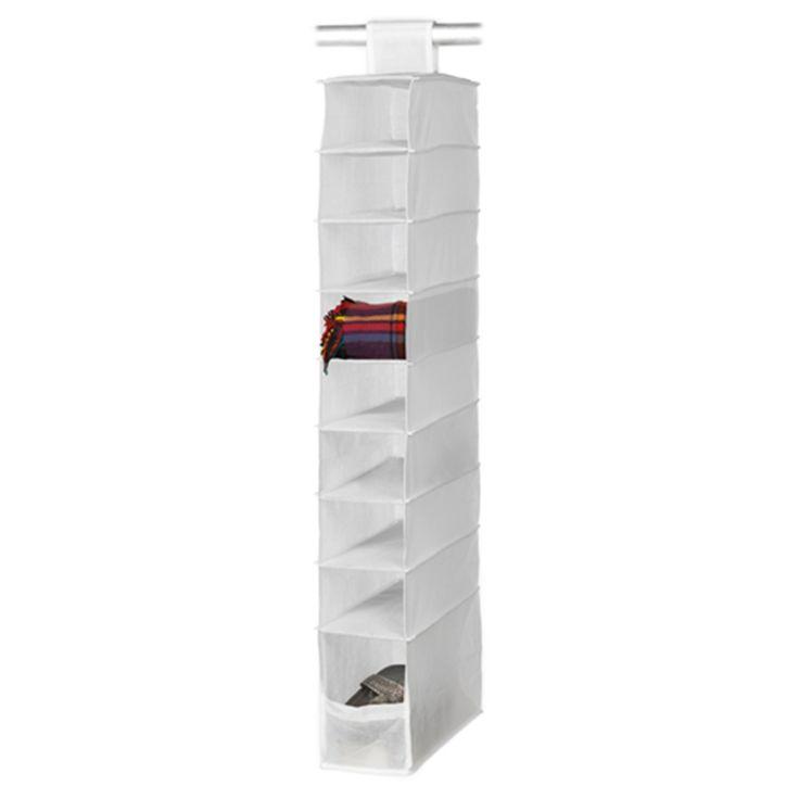 Harmony 9 Shelf Hanging Wardrobe Organiser