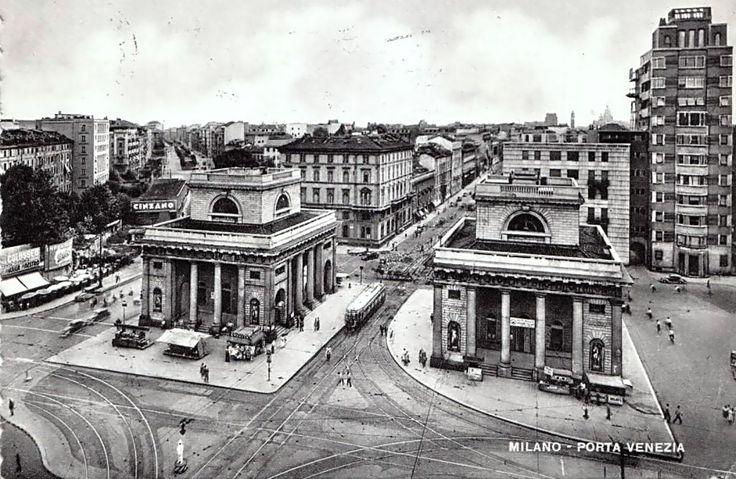 Milano piazza oberdan e corso venezia anni 50 milano - Bastioni di porta venezia ...