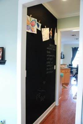 A chalkboard wall...my kitchen needs this: Chalkboard Ideas, Chalkboard Walls, Wall Idea, Chalkboard Wall Yes, Chalkboard Wall Playroom, Chalkboard Wall My, Chalkboard Wall In, Kids Rooms, Laundry Room