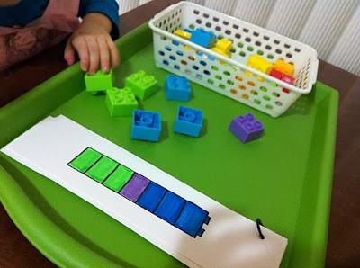 Lego matching activity