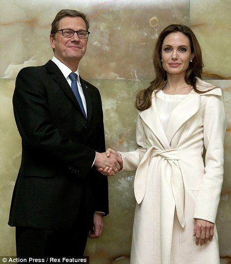 UN Ambassador Angelina Jolie spreads some Goodwill in Germany as she meets their Foreign Minister