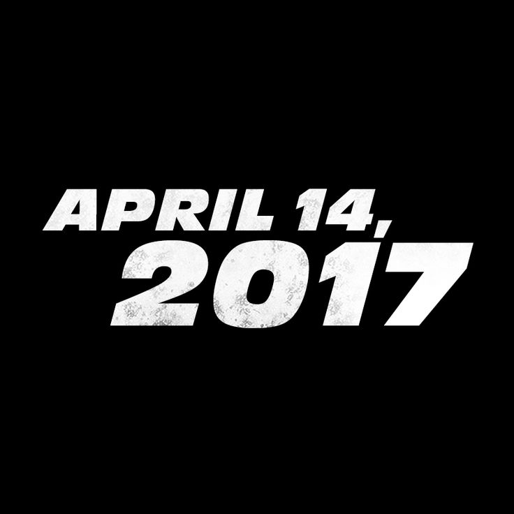 The new chapter in the Fast & Furious saga will be released on Friday, April 14, 2017.