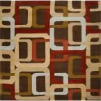 Michael Brown 4 ft. x 4 ft.Square Area Rug