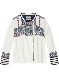 Embroidered Jacket | Inbetween jackets | Girls Clothing at Scotch & Soda